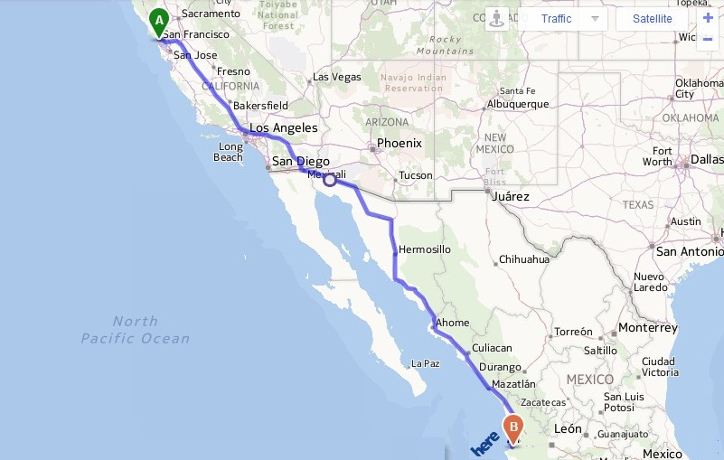 Concierge Vallarta About Us - The trip driving from San Francisco to Puerta Vallarta